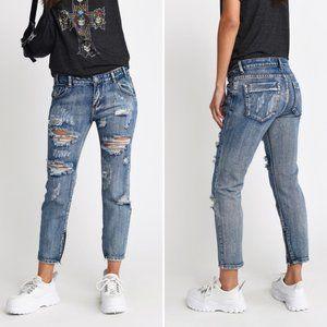 TOBI • Harper Marina Denim Skinny Jeans